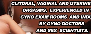 Clitoral, vaginal and uterine female orgasms