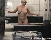 spy mature shower