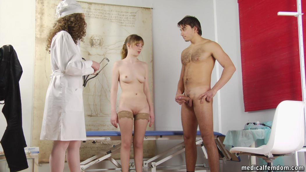 Male physical examination video.