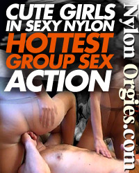 Cute girls in sexy nylon hottest group action