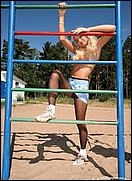 sports in pantyhose