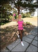sport exercises in pantyhose