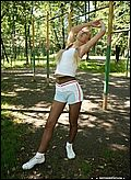 fitness in pantyhose