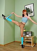 gymnast in pantyhose