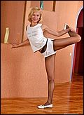 gymnastics in pantyhose