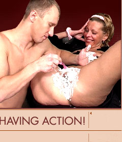 Gorgeous mature ladies getting shaved and fucked!