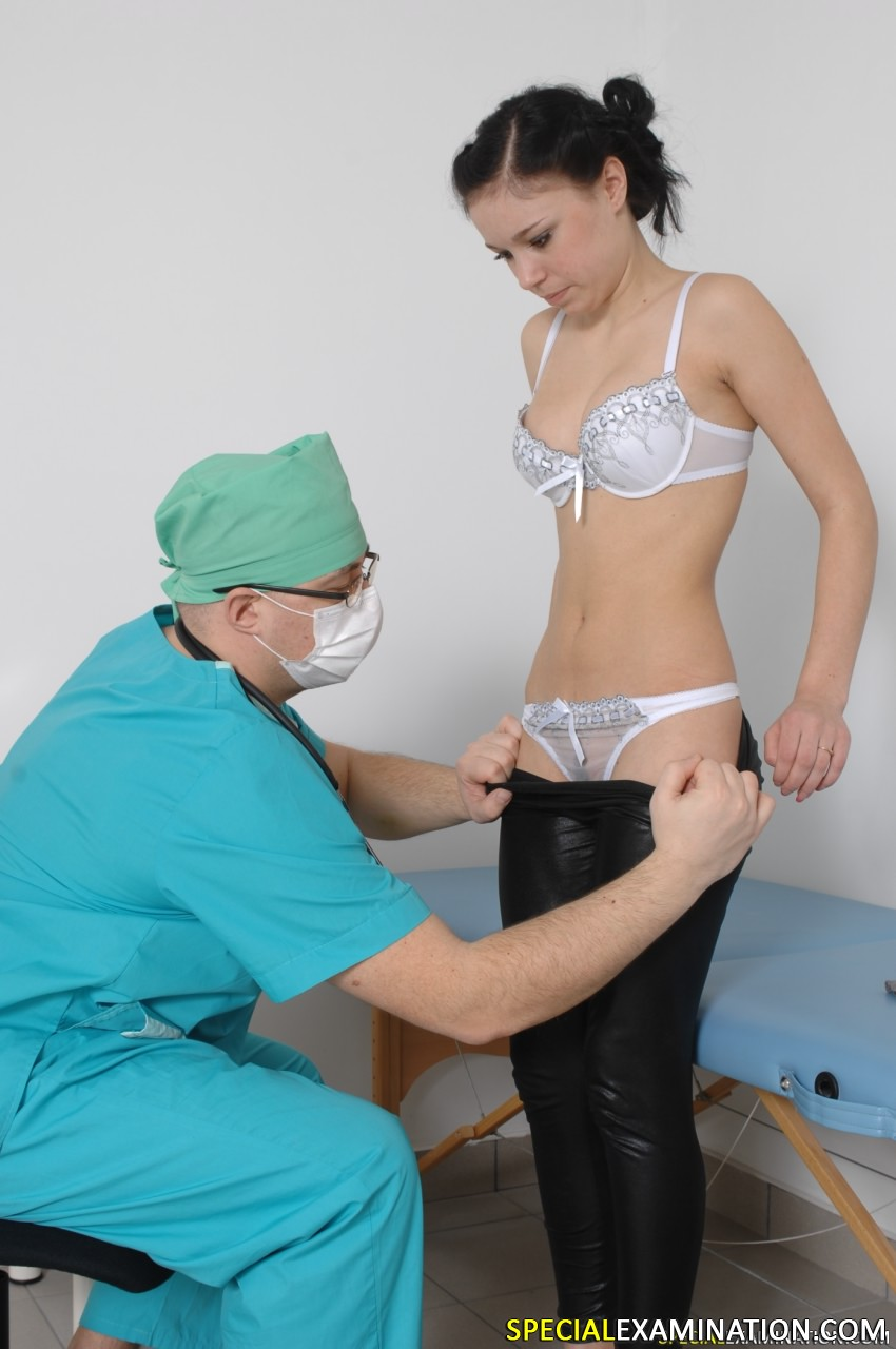 Rough medical examination of her wet pussy 3
